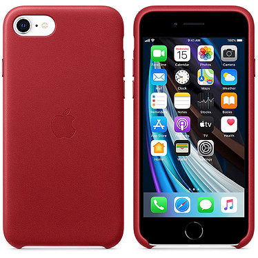 Apple Coque en cuir (PRODUCT)RED Apple iPhone SE Coque en cuir pour Apple iPhone SE
