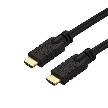 StarTech.com Câble HDMI haute vitesse actif 4K 60 Hz de 15 m Câble HDMI haute vitesse Ultra HD 4K 60 Hz avec HDMI (mâle)/HDMI (mâle) CL2 pour installation murale encastrée - 15 mètres