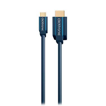 Clicktronic Câble USB-C / HDMI (Mâle/Mâle) - 1 m Câble USB-C vers HDMI avec blindage - 1 mètre