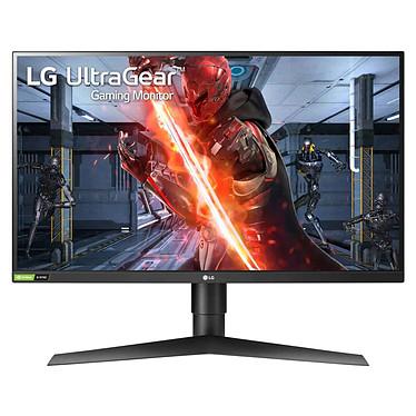 """LG 27"""" LED - 27GN750-B 1920 x 1080 pixels - 1 ms (gris à gris) - Format 16/9 - Dalle IPS - 240 Hz - HDR - Compatible G-Sync / FreeSync - HDMI/DisplayPort - Hub USB 3.0 - Noir/Rouge"""