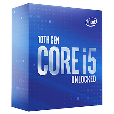 Intel Core i5-10600K (4.1 GHz / 4.8 GHz) Processeur 6-Core 12-Threads Socket 1200 Cache L3 12 Mo Intel UHD Graphics 630 0.014 micron (version boîte sans ventilateur - garantie Intel 3 ans)
