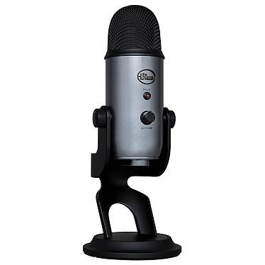 Blue Microphones Yeti Gris Lunaire Microphone à 3 capsules électrostatiques - directivité multiple - USB - sortie casque