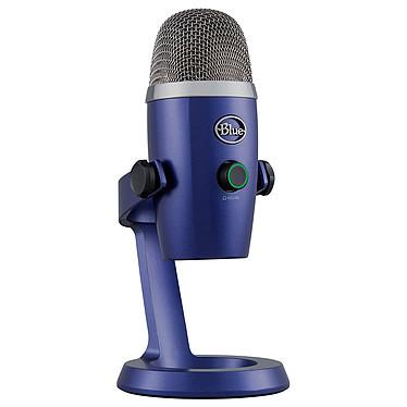 Blue Microphones Yeti Nano Bleu Microphone à 2 capsules électrostatiques - directivité multiple - USB - sortie casque