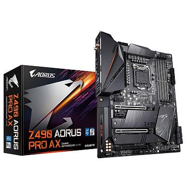 Gigabyte Z490 AORUS PRO AX Carte mère ATX Socket 1200 Intel Z490 Express - 4x DDR4 - SATA 6Gb/s + M.2 PCI-E NVMe - USB 3.1 - 3x PCI-Express 3.0 16x - Wi-Fi 6 AX + 2.5 GbE LAN