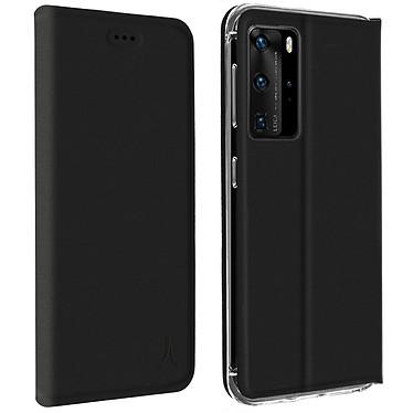 Akashi Etui Folio Noir Huawei P40 Pro Etui folio avec porte carte pour Huawei P40 Pro