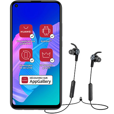 "Huawei P40 Lite E Noir + AM61 OFERT! Smartphone 4G-LTE Dual SIM - Kirin 710F Octo-Core 2.2 GHz - RAM 4 Go - Ecran tactile 6.39"" 720 x 1560 - 64 Go - Bluetooth 5.0 - 4000 mAh - Android 9 + Écouteurs sport Bluetooth"