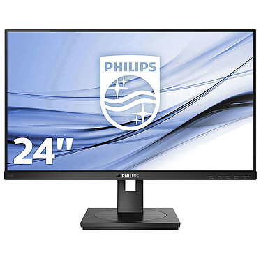 "Monitor Philips 23.8"" LED - 243B1/00 1920 x 1080 píxeles - 4 ms (gris a gris) - Formato ancho 16/9 - Panel IPS - HDMI/DisplayPort/USB-C - Hub USB - Gigabit Ethernet - Pivote - Altavoces - Negro"