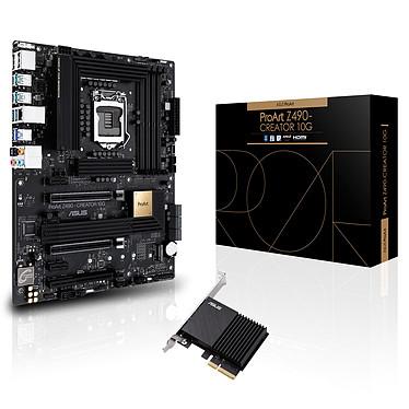 ASUS ProArt Z490-CREATOR 10G Carte mère ATX Socket 1200 Intel Z490 Express - 4x DDR4 - SATA 6Gb/s + M.2 PCI-E NVMe - USB 3.1 - 3x PCI-Express 3.0 16x - 10 GbE LAN