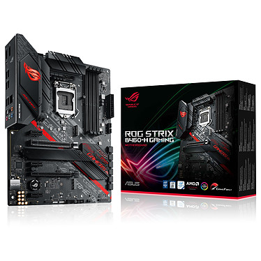 ASUS ROG STRIX B460-H GAMING Carte mère ATX Socket 1200 Intel B460 Express - 4x DDR4 - SATA 6Gb/s + M.2 PCI-E NVMe - USB 3.2 (2x2) - 2x PCI-Express 3.0 16x