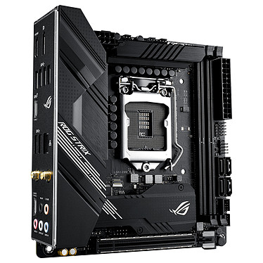 ASUS ROG STRIX B460-I GAMING Placa base Mini ITX Socket 1200 Intel B460 Express - 2x DDR4 - SATA 6Gb/s M.2 PCI-E NVMe - USB 3.2 (2x2) - Wi-Fi 6 AX - PCI-Express 3.0 16x