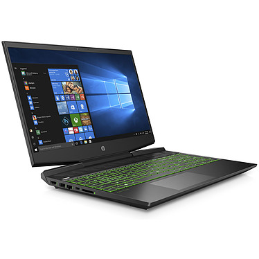 "HP Gaming Pavilion 15-dk0015nf Intel Core i7-9750H 8 Go SSD 256 Go + HDD 1 To 15.6"" LED Full HD NVIDIA GeForce GTX 1660 Ti 6 Go Wi-Fi AC/Bluetooth Webcam Windows 10 Famille 64 bits"