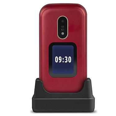 """Doro 6060 Rouge Téléphone 2G Compatible Appareils Auditifs (HAC) - Ecran 2.8"""" 240 x 320 - 1000 mAh"""