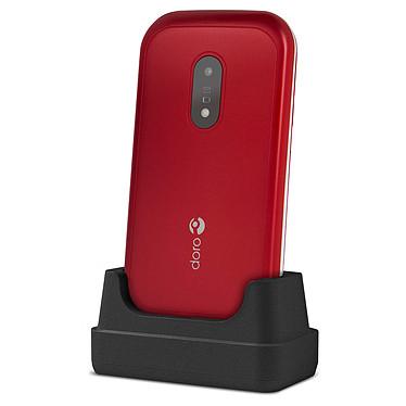 """Doro 6040 Rouge Téléphone 2G Compatible Appareils Auditifs (HAC) - Ecran 2.8"""" 240 x 320 - Bluetotoh 3.0 - 1000 mAh"""