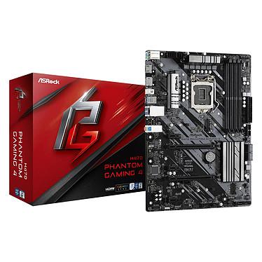 ASRock H470 Phantom Gaming 4 Placa base ATX Socket 1200 Intel H470 Express - 4x DDR4 - SATA 6Gb/s M.2 PCI-E NVMe - USB 3.1 - 2x PCI-Express 3.0 16x