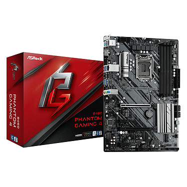 ASRock B460 Phantom Gaming 4 Placa base ATX Socket 1200 Intel B460 Express - 4x DDR4 - SATA 6Gb/s M.2 PCI-E NVMe - USB 3.0 - 2x PCI-Express 3.0 16x