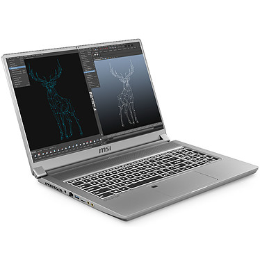 "MSI Creator 17 A10SF-021FR Intel Core i7-10750H 32 Go SSD 1 To 17.3"" Mini LED HDR1000 Ultra HD NVIDIA GeForce RTX 2070 8 Go Wi-Fi AX/Bluetooth Webcam Windows 10 Professionnel 64 bits"