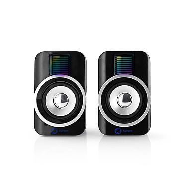 Nedis Gaming Xyagos - 2.0 Speaker Set (30W) - RGB Kit d'enceintes - son stéréo 2.0 - 30W RMS - éclairage RGB - connexion Jack 3.5 mm - alimentation USB