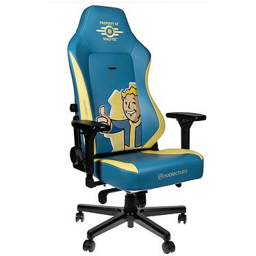 Noblechairs HERO (Fallout Vault Tec Edition) Silla gaming de imitación de cuero con respaldo reclinable de 135° y apoyabrazos 4D (hasta 150 kg)