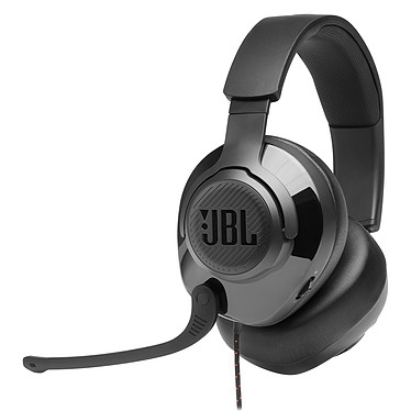 JBL Quantum 300 Black Auriculares Gaming con cable - Sonido envolvente virtual - Micrófono retráctil - Jack 3.5 mm/USB - Compatible con PC / Mac / Consolas / Móviles