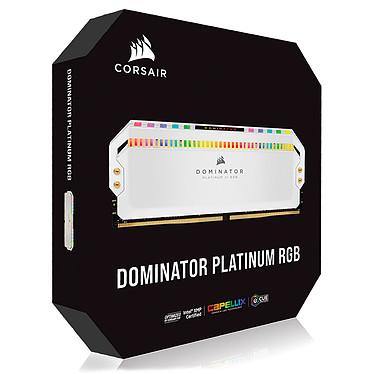 Acheter Corsair Dominator Platinum RGB 32 Go (4 x 8 Go) DDR4 3200 MHz CL16 - Blanc