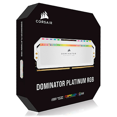 Comprar Corsair Dominator Platinum RGB 32 GB (4 x 8 GB) DDR4 4000 MHz CL19 - Blanco