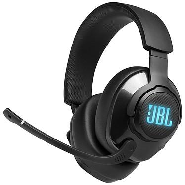 JBL Quantum 400 Black Auriculares Gaming con cable - Sonido envolvente virtual - DTS Headphone:X 2.0 - Micrófono retráctil - Jack de 3,5 mm/USB - RGB - Compatible con PC/Mac/Consolas/Móvil