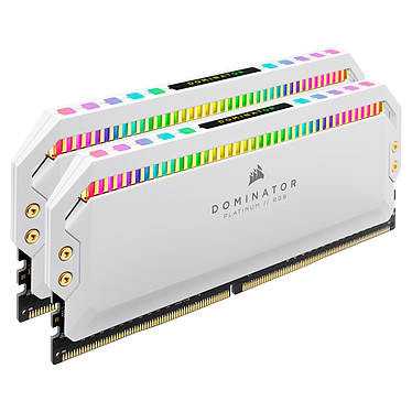 Avis Corsair Dominator Platinum RGB 32 Go (2 x 16 Go) DDR4 4000 MHz CL19 - Blanc