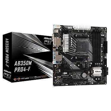 ASRock AB350M Pro4-F Carte mère Micro ATX Socket AM4 AMD B350 - 4x DDR4 - SATA 6Gb/s + M.2 - USB 3.0 - 2x PCI-Express 16x
