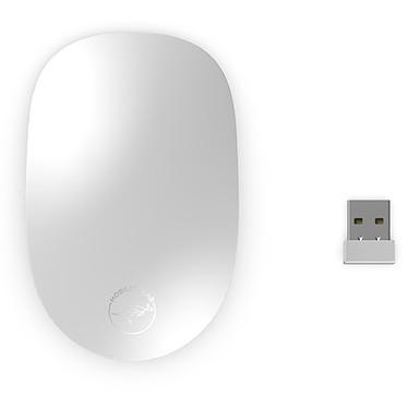 Mobility Lab Slide Mouse (Argent) Souris sans fil - RF 2.4 GHz - ambidextre - capteur optique 1200 dpi - 3 boutons - Mac et Windows
