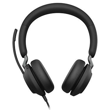 Jabra Evolve2 40 USB-C MS Stéréo Noir Micro-casque filaire stéréo professionnel - USB-C - certifié Microsoft Skype