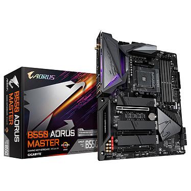 Gigabyte B550 AORUS MASTER Carte mère ATX Socket AM4 AMD B550 - 4 x DDR4 - SATA 6Gb/s + M.2 - USB 3.1 - 3x PCI-Express 4.0 16x - Wi-Fi 6 AX - LAN 2.5 GbE