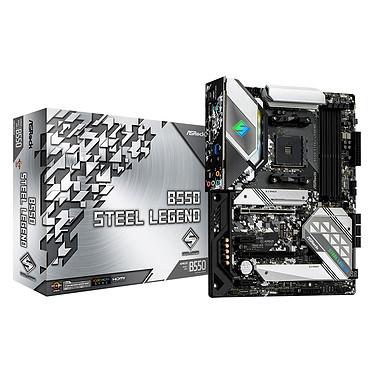 ASRock B550 Steel Legend Carte mère ATX Socket AM4 AMD B550 - 4x DDR4 - SATA 6Gb/s + M.2 PCI-E NVMe - USB 3.1 - 2x PCI-Express 3.0 16x - LAN 2.5 GbE