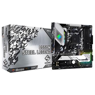 ASRock B550M Steel Legend Carte mère Micro ATX Socket AM4 AMD B450 - 4x DDR4 - SATA 6Gb/s + M.2 PCI-E NVMe - USB 3.1 - 2x PCI-Express 3.0 16x - LAN 2.5 GbE