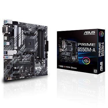 ASUS PRIME B550M-A Carte mère Micro ATX Socket AM4 AMD B550 - 4x DDR4 - SATA 6Gb/s + M.2 - USB 3.1 - PCI-Express 4.0 16x