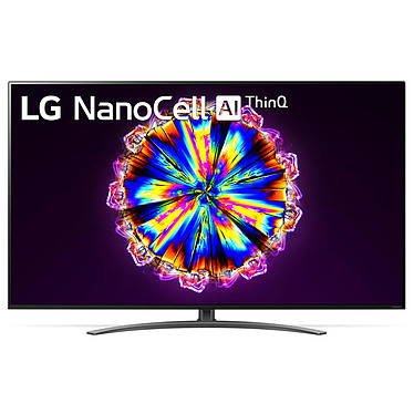 "LG 65NANO916 Téléviseur LED 4K Ultra HD 65"" (165 cm) - 3840 x 2160 pixels - HDR - Wi-Fi/Bluetooth/AirPlay 2 - Assistant Google/Alexa - Son 2.0 20W Dolby Atmos (Dalle native 100 Hz)"