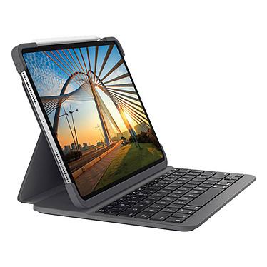 """Logitech Slim Folio Pro (iPad Pro 12.9"""") Étui clavier Bluetooth pour iPad Pro 12.9"""" (3ème et 4ème gen) (AZERTY, Français)"""