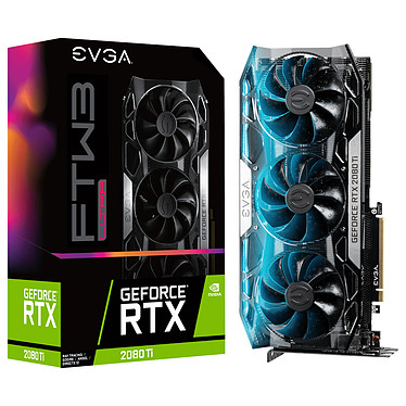 EVGA GeForce RTX 2080 Ti FTW3 ULTRA GAMING 11 Go GDDR6 - HDMI/Tri DisplayPort/USB Type-C - PCI Express (NVIDIA GeForce RTX 2080 Ti)