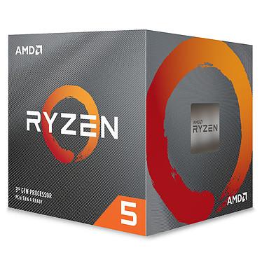 AMD Ryzen 5 3600XT Wraith Spire (3.8 GHz / 4.5 GHz) Processeur 6-Core 12-Threads socket AM4 GameCache 35 Mo 7 nm TDP 95W avec système de refroidissement (version boîte - garantie constructeur 3 ans)