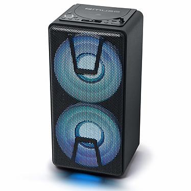 Muse M-1820 DJ Enceinte sans fil stéréo 150 Watts - Bluetooth 5.0 - Lecteur CD - Effets lumineux - Autonomie 5h - AUX/USB - Micro inclus