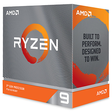 AMD Ryzen 9 3900XT (3.8 GHz / 4.7 GHz) Processeur 12-Core 24-Threads socket AM4 GameCache 70 Mo 7 nm TDP 105W  (version boîte sans ventilateur- garantie constructeur 3 ans)