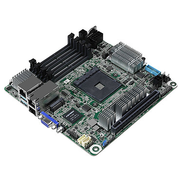 ASRock Rack X570D4I-2T Carte mère Mini ITX Socket AM4 AMD X570 - 4x DDR4 - SATA 6Gb/s + M.2 - USB 3.0 - 1x PCI-Express 4.0 16x - LAN 10 GbE (DUPLICATION)