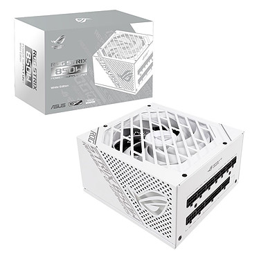 ASUS ROG-STRIX-850G-WHITE 80PLUS Gold White Edition Alimentation modulaire 850W ATX/EPS 12V - Ventilateur 135 mm - 80PLUS Gold