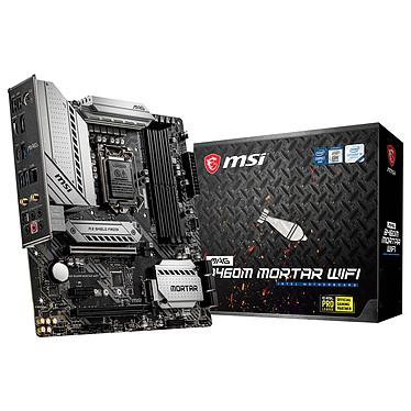MSI MAG B460M MORTAR WIFI Carte mère Micro ATX Socket 1200 Intel B460 Express - 4x DDR4 - SATA 6Gb/s + M.2 PCI-E NVMe - USB 3.0 - 2x PCI-Express 3.0 16x - LAN 2.5 GbE + Wi-Fi 6 AX/Bluetooth