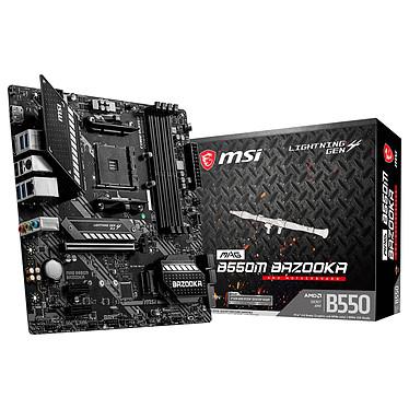 MSI MAG B550M BAZOOKA Carte mère Micro ATX Socket AM4 AMD B550 - 4x DDR4 - SATA 6Gb/s + M.2 - USB 3.1 - PCI-Express 4.0 16x - LAN 2.5 GbE (DUPLICATION)