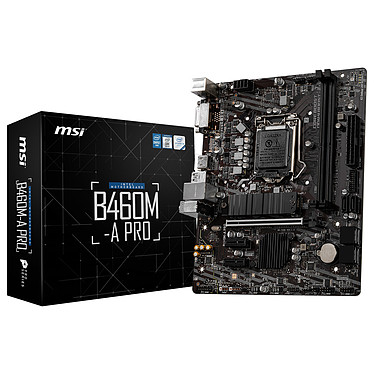 MSI B460M-A PRO Carte mère Micro ATX Socket 1200 Intel B460 Express - 2x DDR4 - SATA 6Gb/s + M.2 PCI-E NVMe - USB 3.0 - PCI-Express 3.0 16x