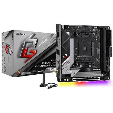 ASRock B550 Phantom Gaming-ITX/ax Carte mère Mini ITX Socket AM4 AMD B550 - 2x DDR4 - SATA 6Gb/s + M.2 PCI-E NVMe - USB 3.1 - PCI-Express 4.0 16x