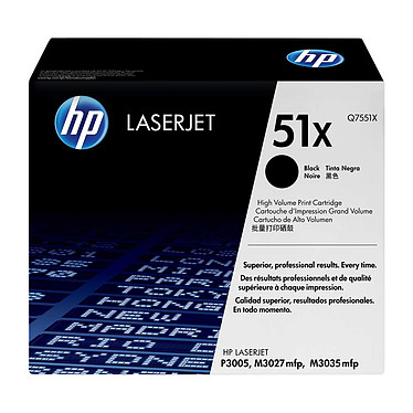 HP 51X (Q7551X) - Noir