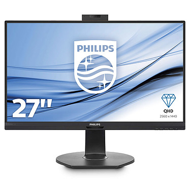"Philips 27"" LED - 272B7QUBHEB 2560 x 1440 pixels - 5 ms (gris à gris) - Format 16/9 - Dalle IPS - Pivot - DisplayPort/HDMI/USB-C - Hub USB - Webcam - Noir"