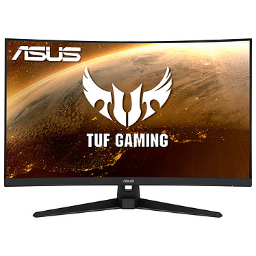 "ASUS 31.5"" LED - TUF VG328H1B 1920 x 1080 pixels - 1 ms (MPRT) - Format 16/9 - Dalle VA incurvée - 165 Hz - FreeSync Premium - HDMI/VGA - Noir"