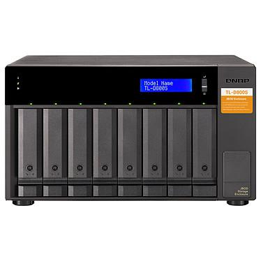 """QNAP TL-D800S Boitier RAID / Unité d'expansion mini SAS - 8 baies 2.5""""/3.5"""" SATA (sans disque dur) avec carte d'extension PCIe QXP-800eS-A1164"""